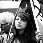 La fille | Paris Manif 2012/2013  @Rafael Duarte